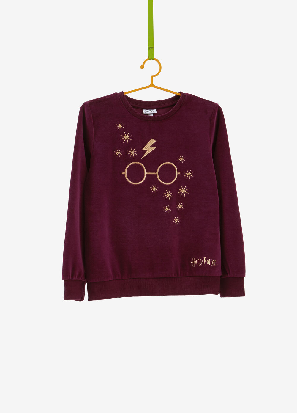 Cotton blend sweatshirt with Harry Potter embroidery