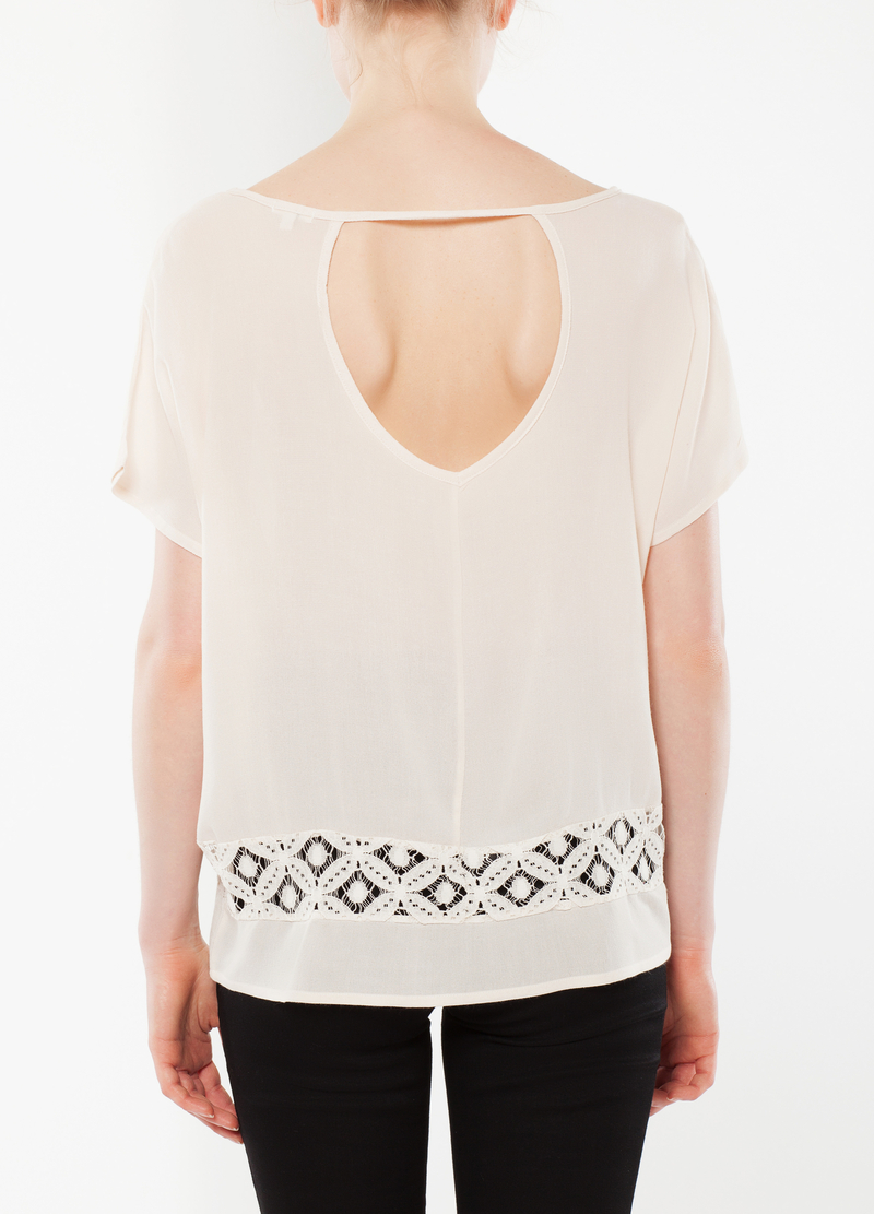T-shirt with openwork detail image number null
