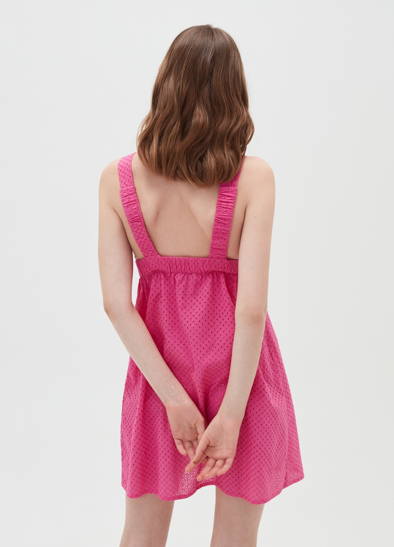 Beach cover-up dress in broderie anglaise image number null
