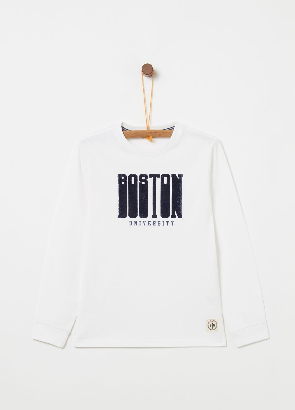 100% cotton T-shirt with lettering print