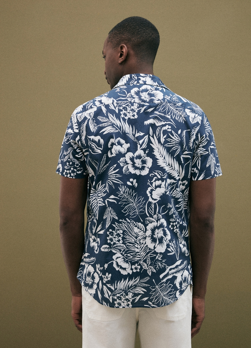 PIOMBO short-sleeved shirt with patterned print image number null