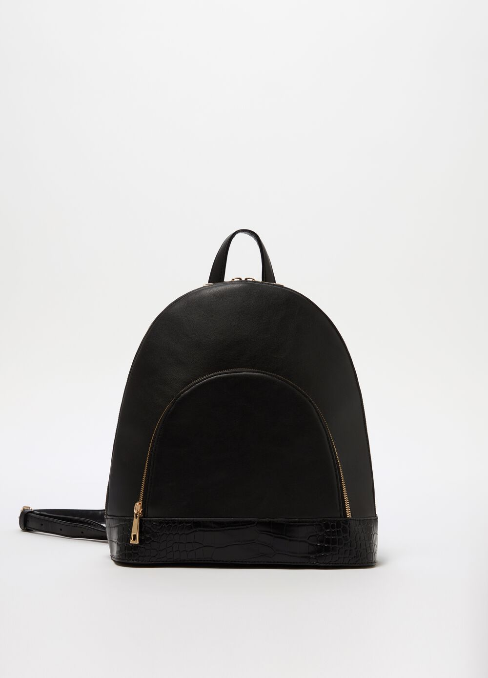 Structured backpack with front pocket