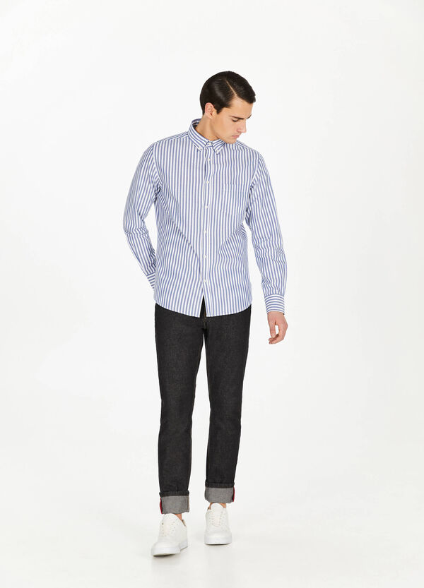 100% cotton striped casual shirt
