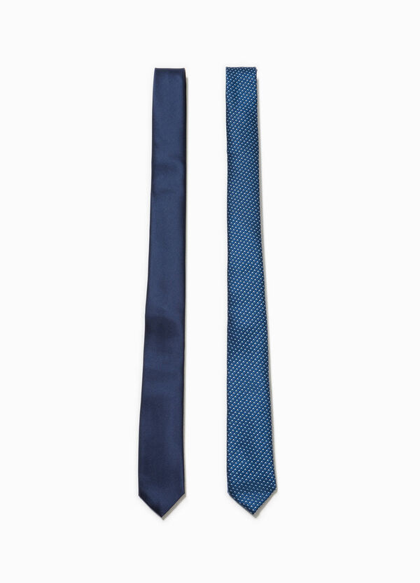Two-pack ties patterned and solid colour | OVS