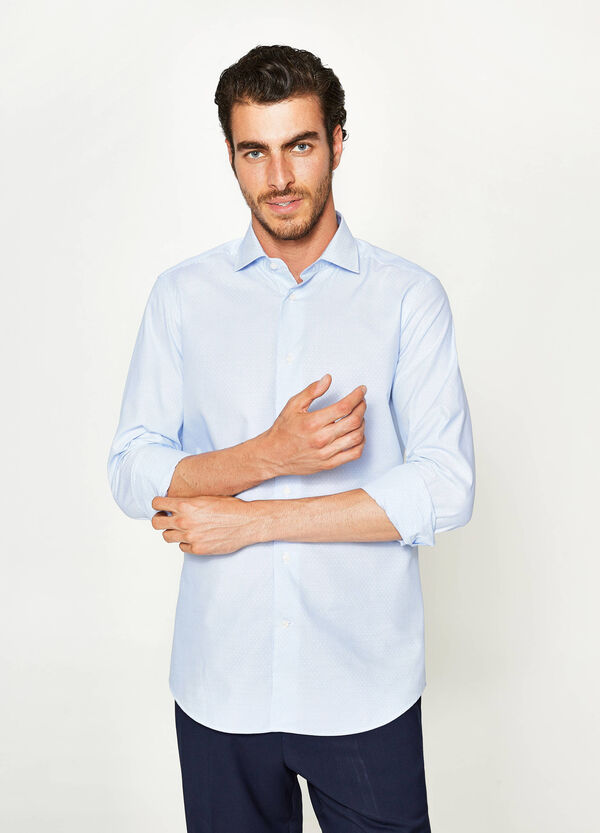 Camicia formale slim fit a micro righe | OVS