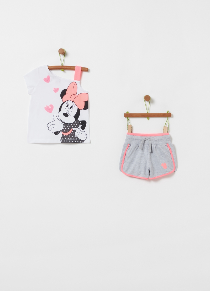 Jogging set t-shirt e shorts Minnie image number null