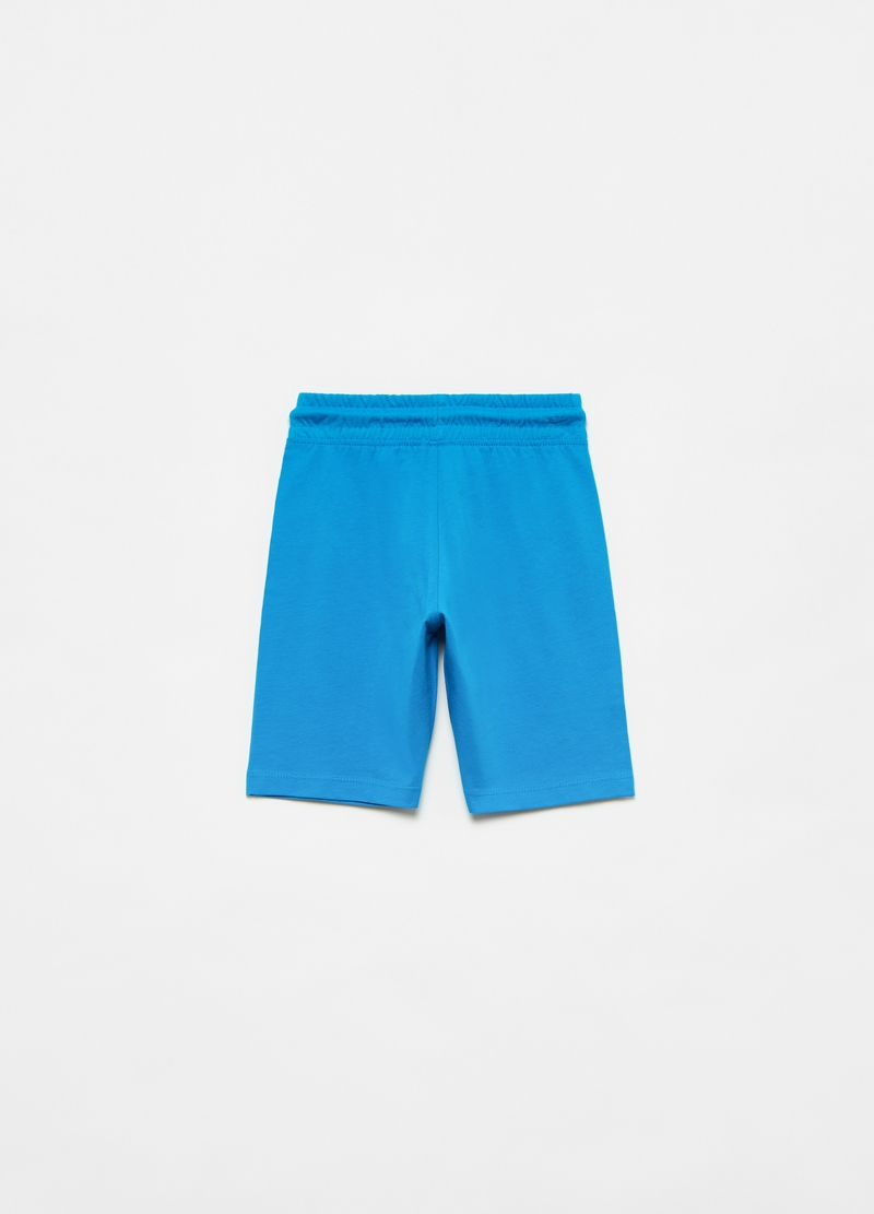 Fleece Bermuda shorts with pouch pocket image number null
