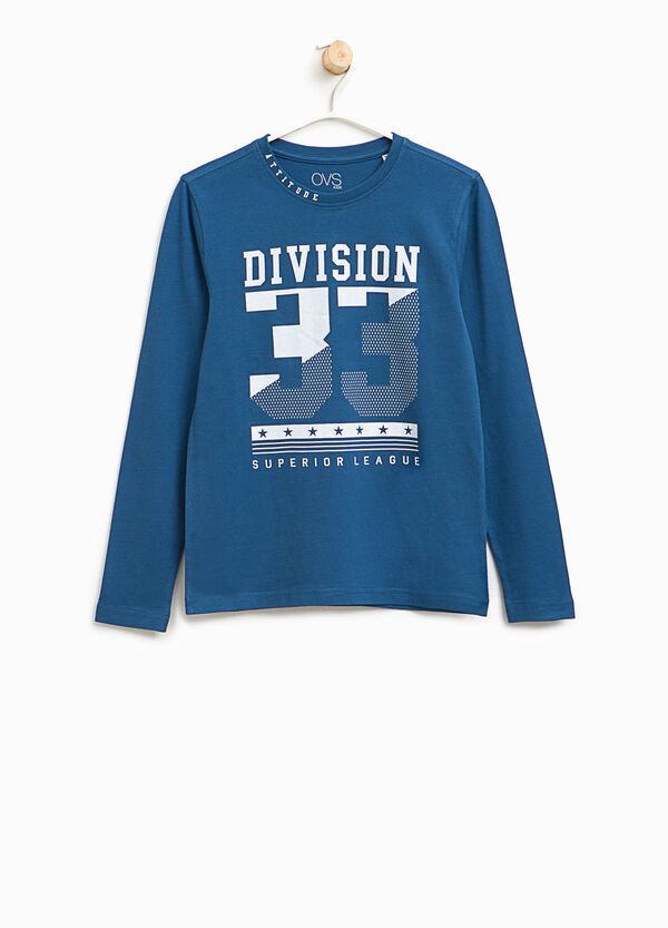 T-shirt con stampa lettering | OVS