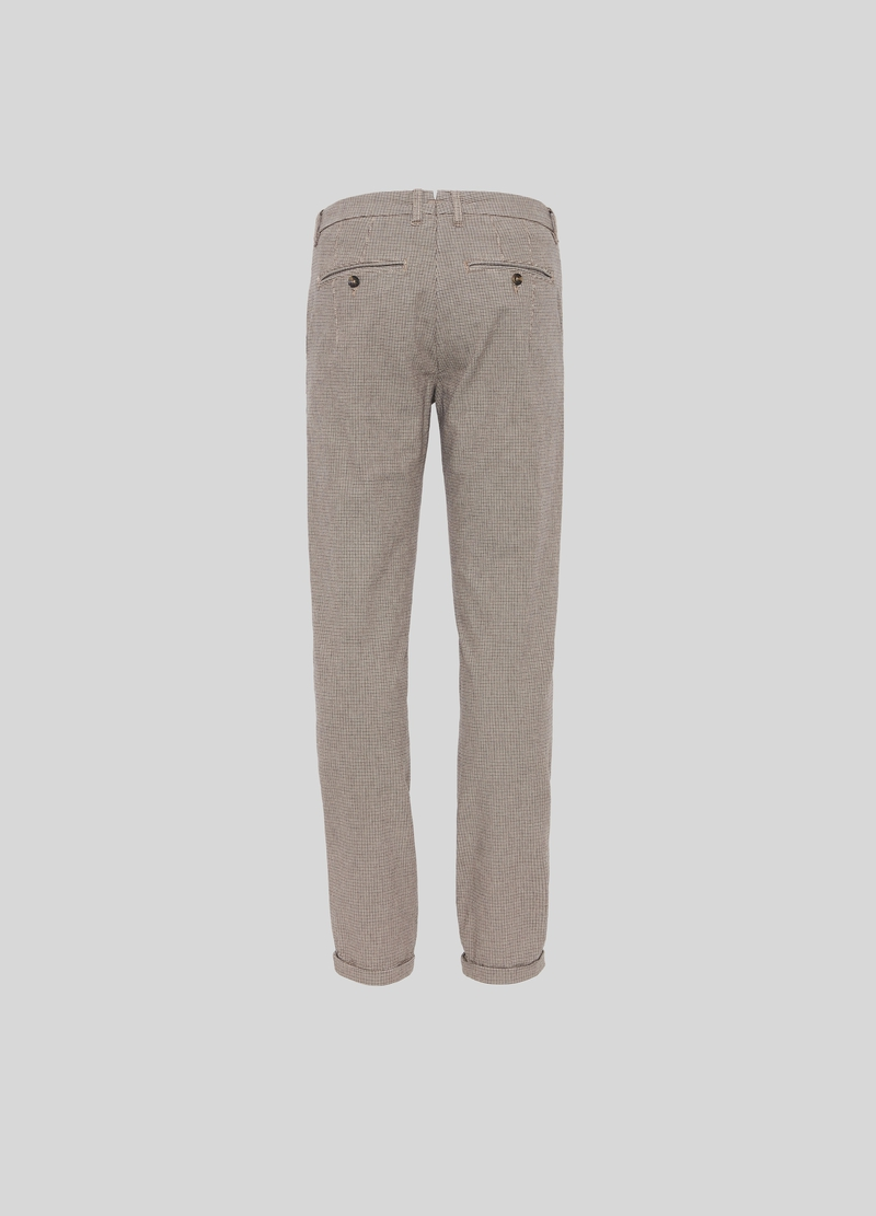 PIOMBO chino trousers with micro check pattern image number null