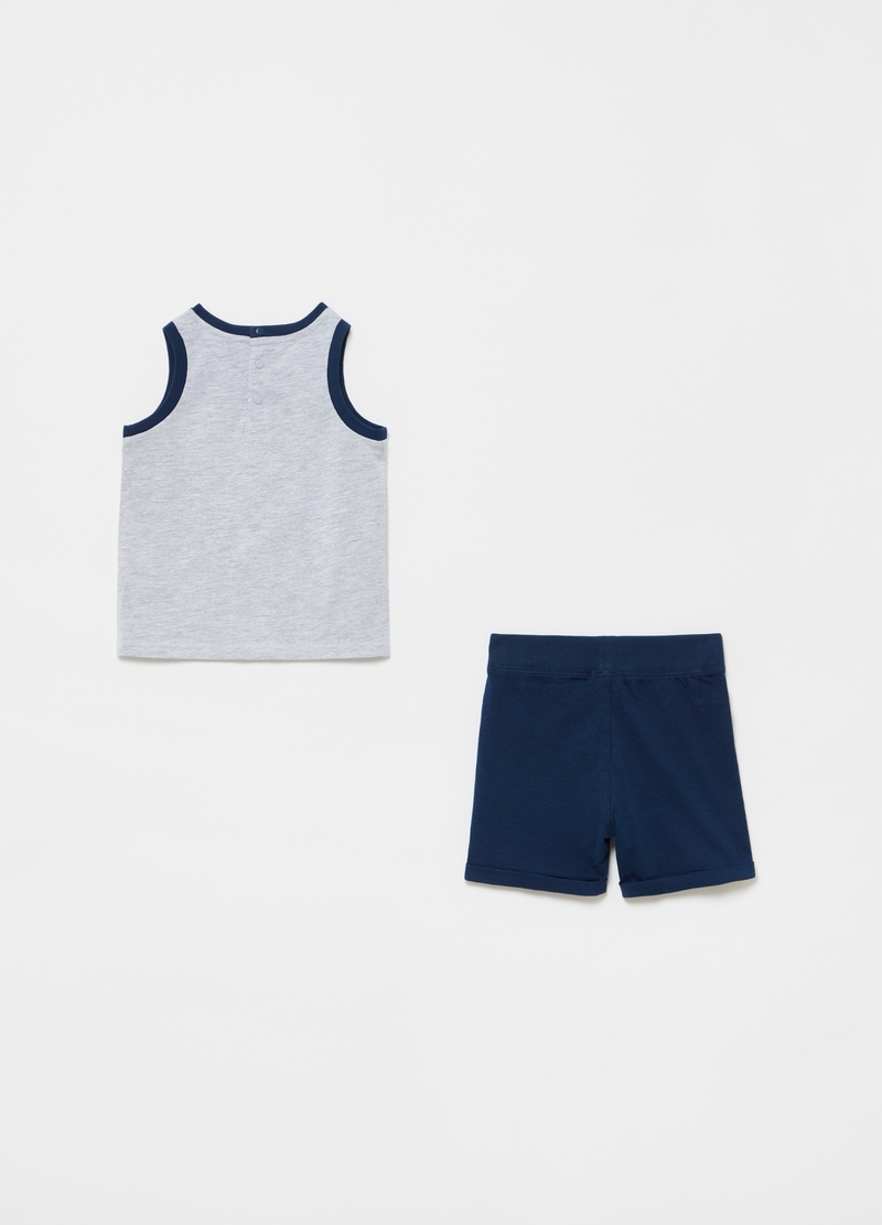 Cotton and viscose jogging set image number null