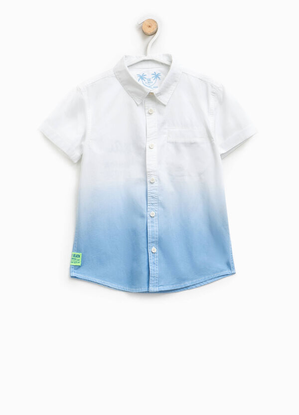 Cotton degradé-effect shirt | OVS