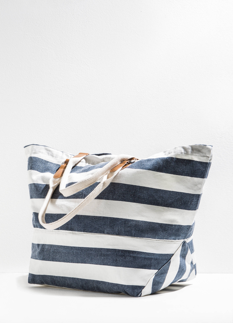 Beach bag with striped pattern image number null