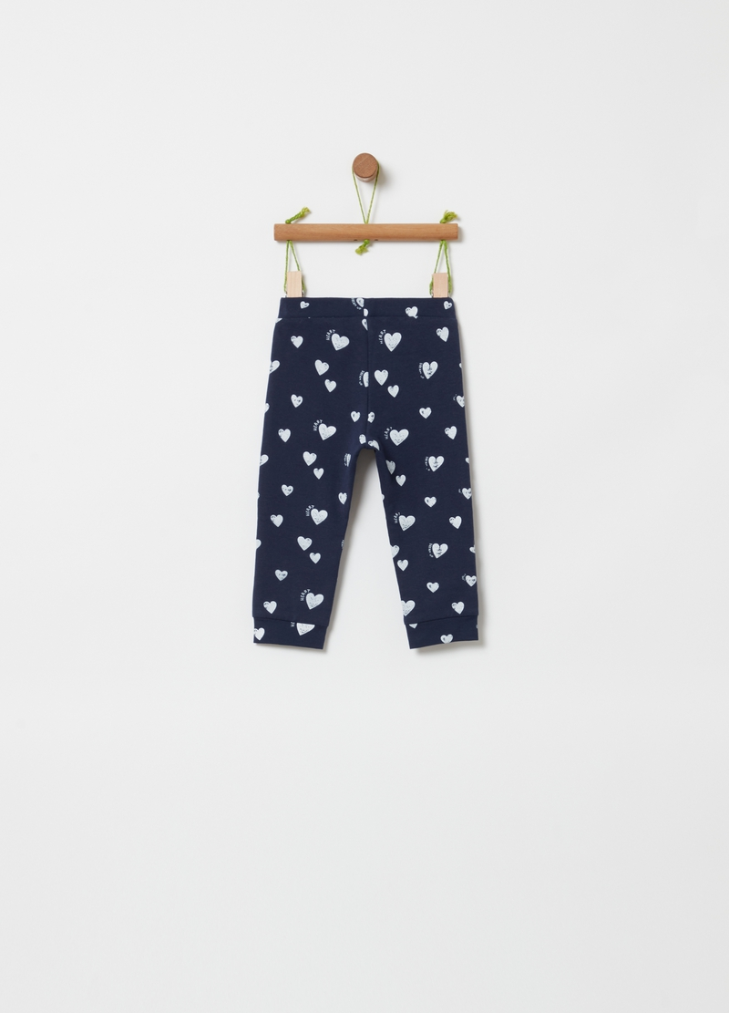 Organic cotton jogger trousers with print image number null