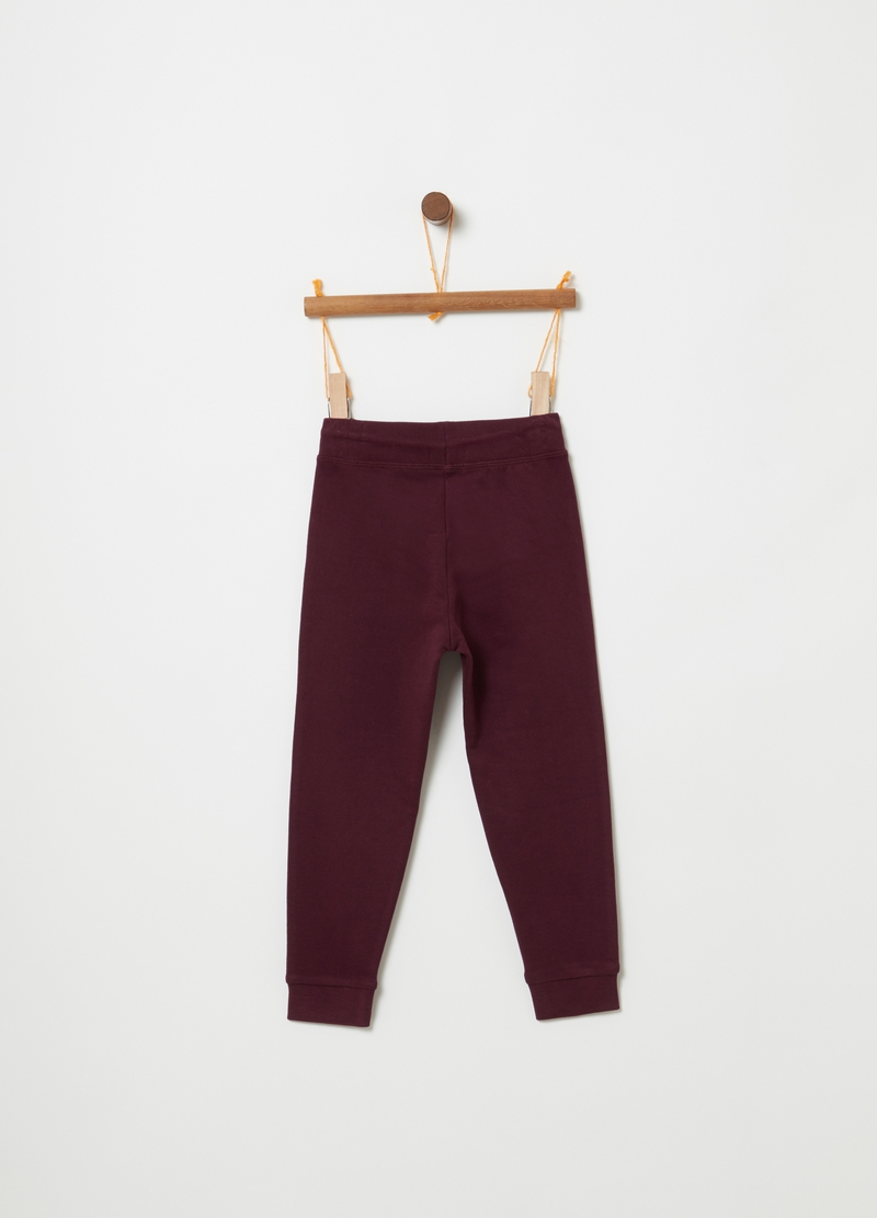 Pantaloni jogger puro cotone coulisse image number null
