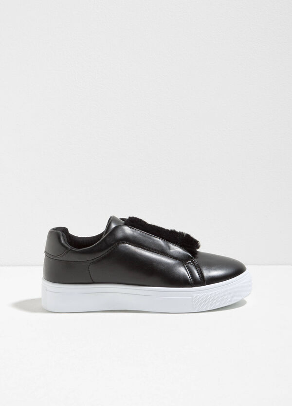 Slip-ons with fur | OVS
