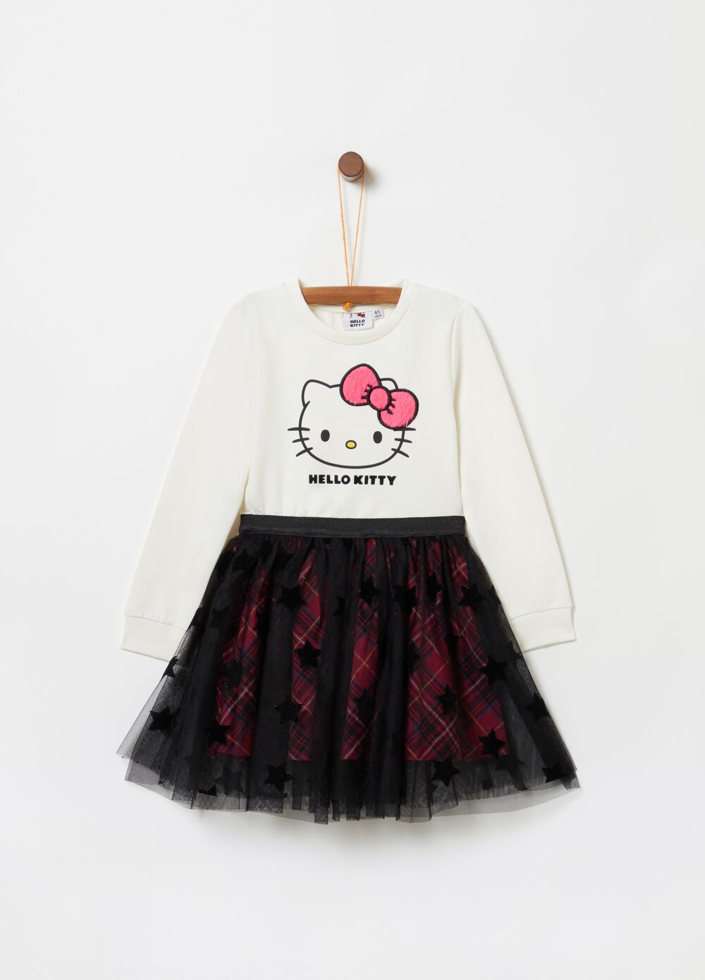 Vestitino stampa Hello Kitty con tulle