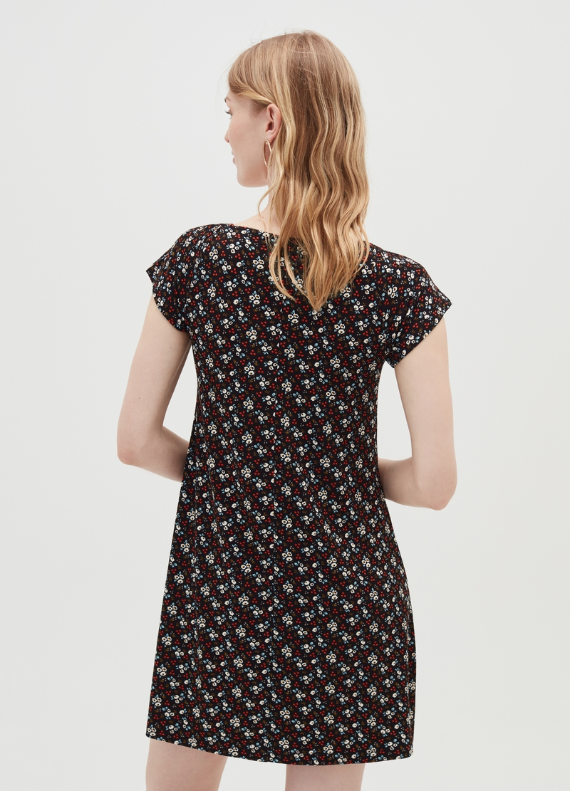 Floral dress in stretch viscose image number null