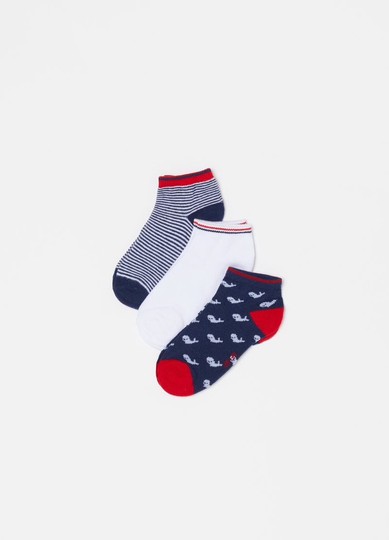 Three-pair pack shoe liners in organic cotton blend image number null