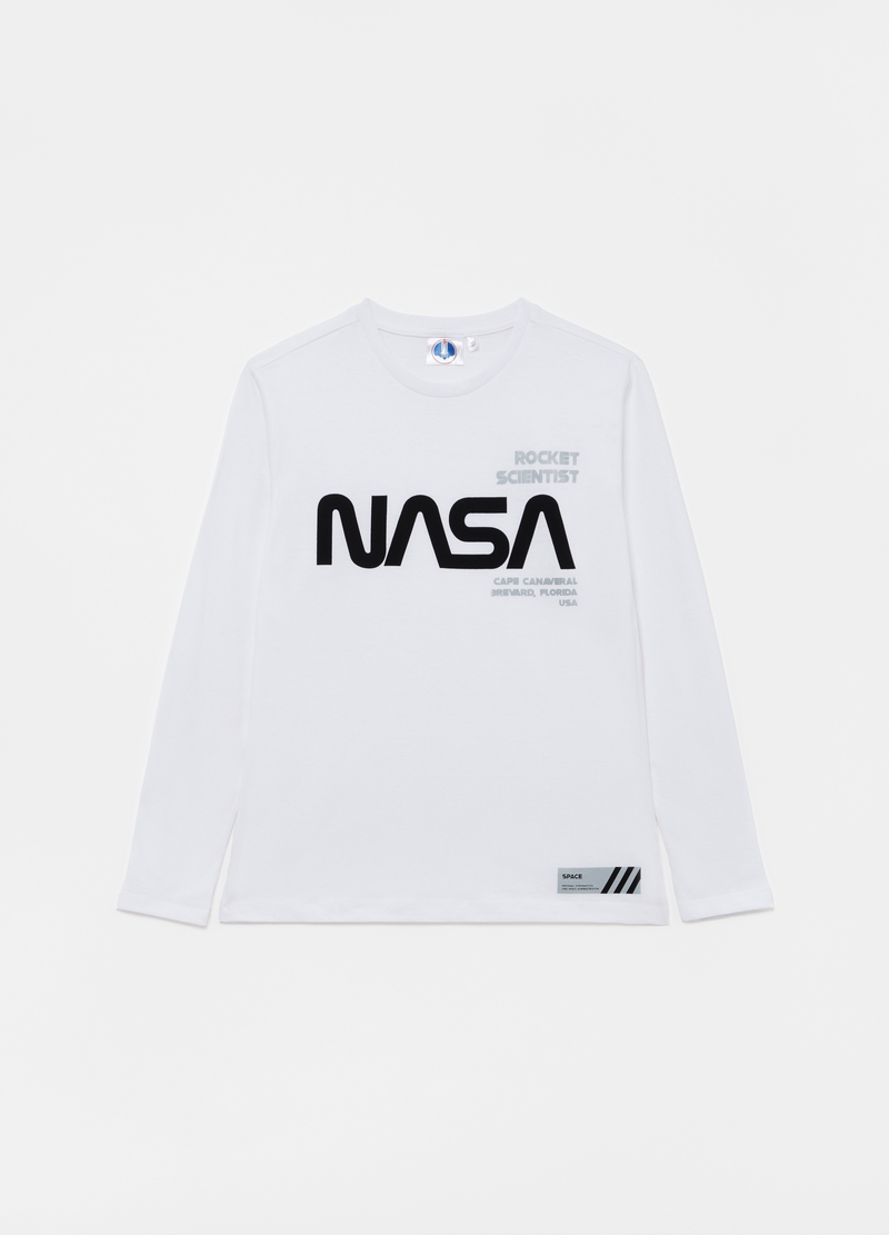 T-shirt with NASA print and long sleeves image number null