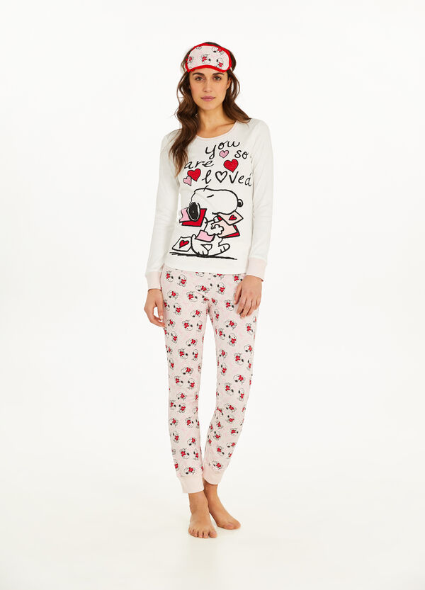 Snoopy pyjamas and eye mask set