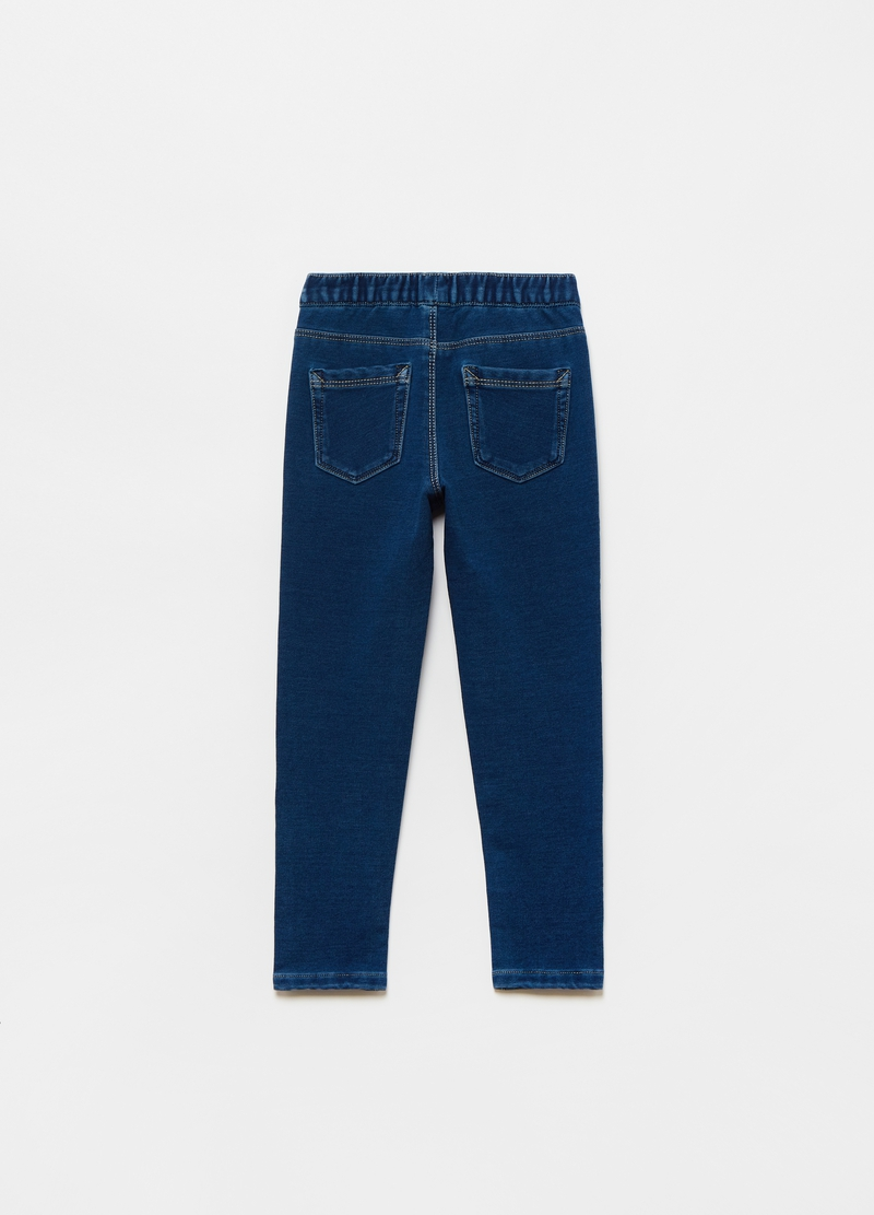 Jeggings in French Terry ricamo cuoricino image number null