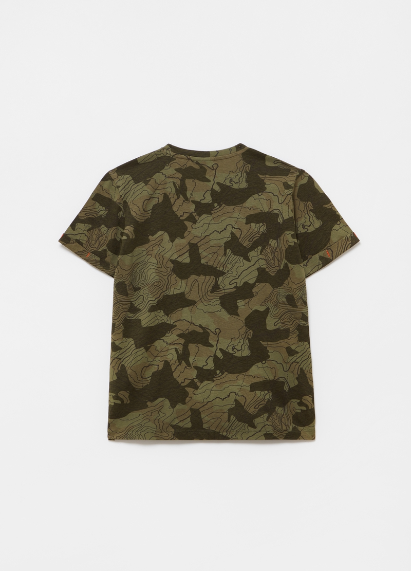 100% cotton camouflage T-shirt image number null