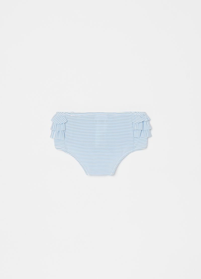 Swimsuit with striped flounce image number null