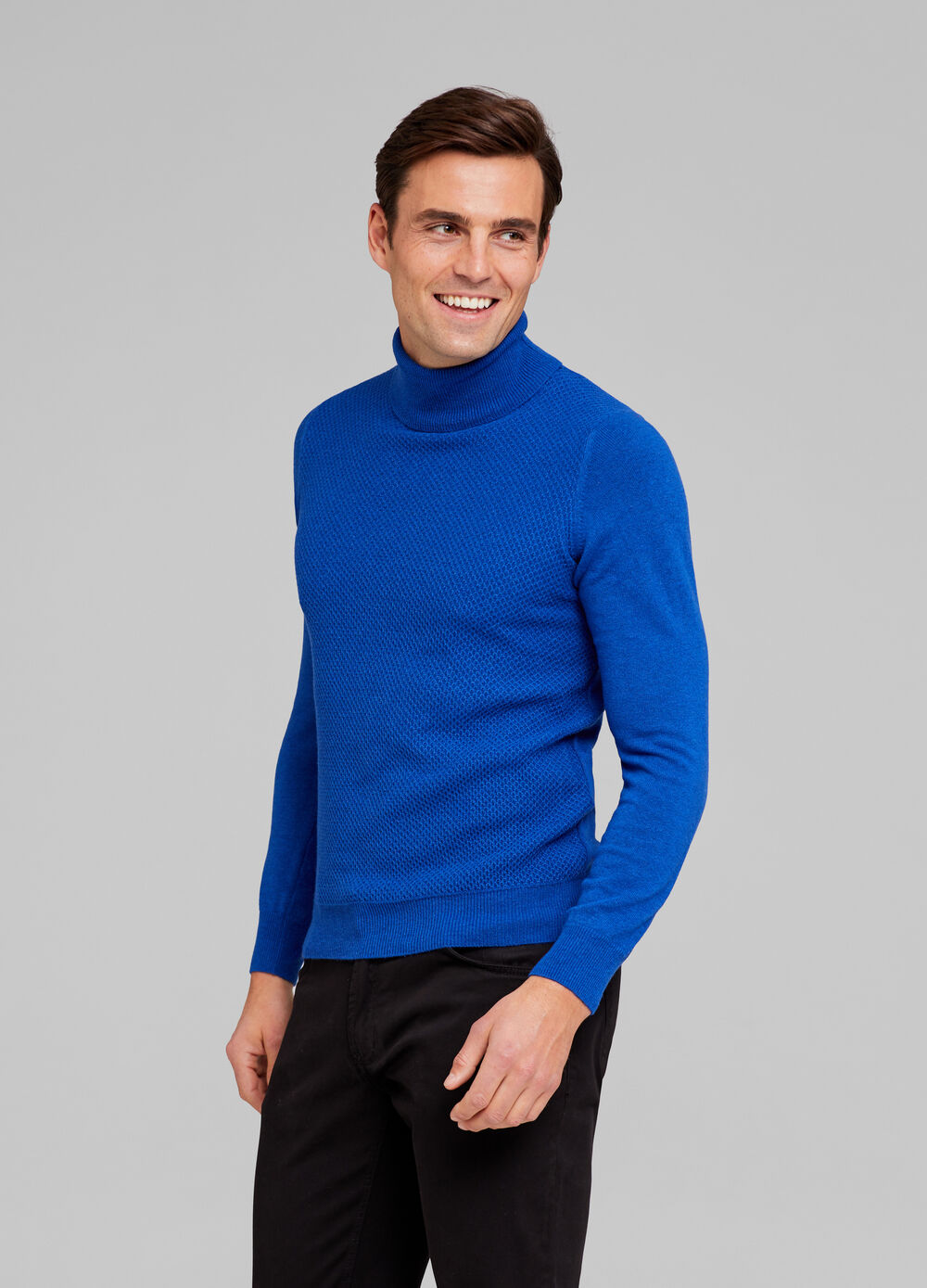 Solid colour tencel and wool blend pullover