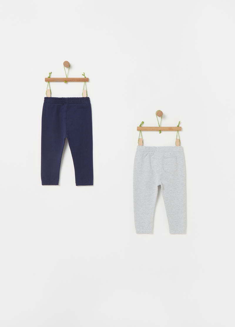 Two-pack 100% cotton jogger trousers image number null