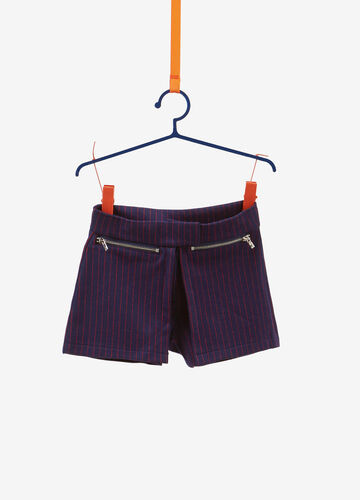 Shorts stretch a righe con tasche