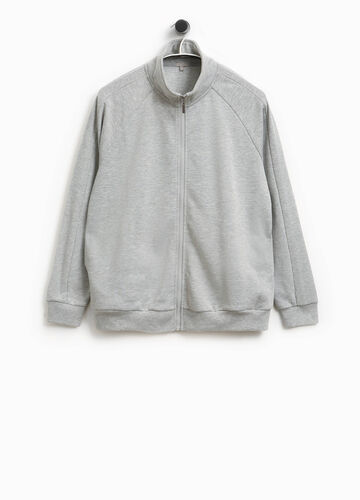 Smart Basic cotton sweatshirt with high neck