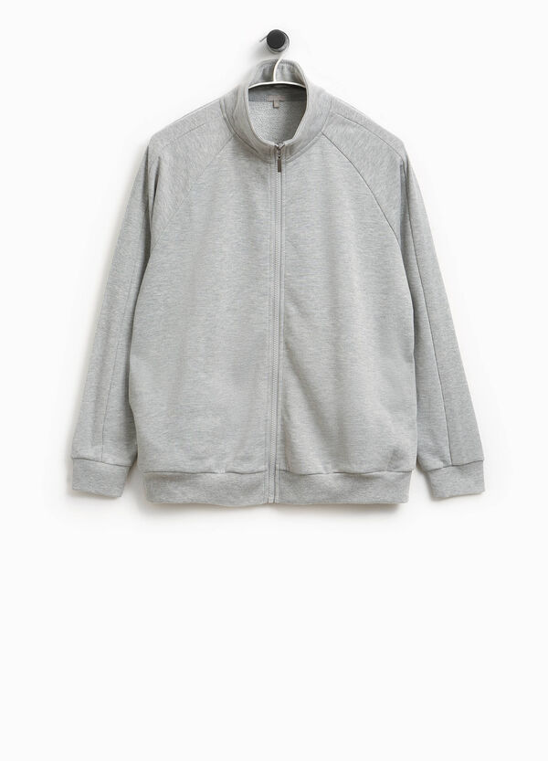 Smart Basic cotton sweatshirt with high neck | OVS