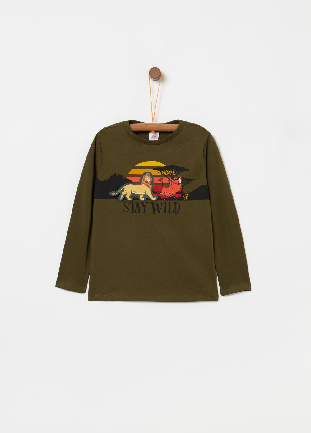 T-shirt with Lion King print and long sleeves