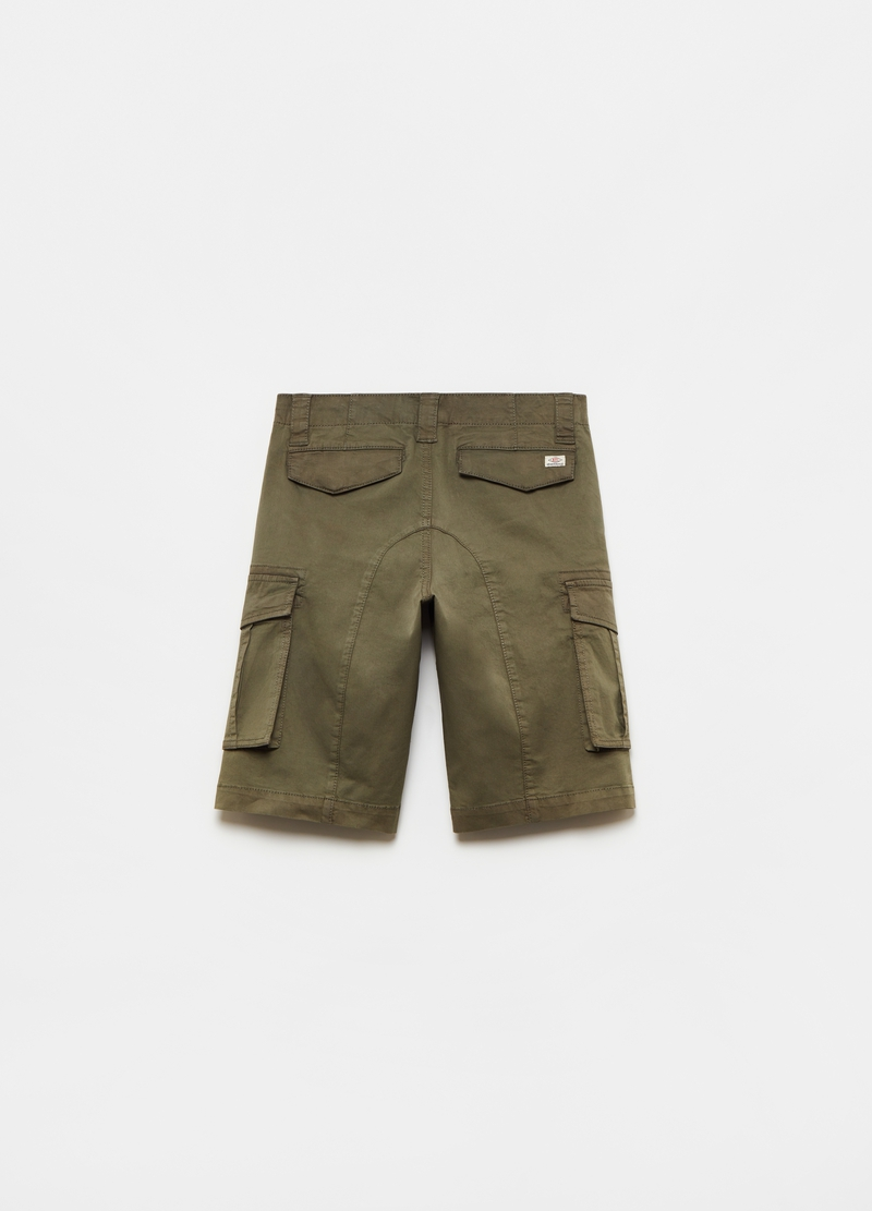 Stretch cotton cargo Bermuda shorts image number null