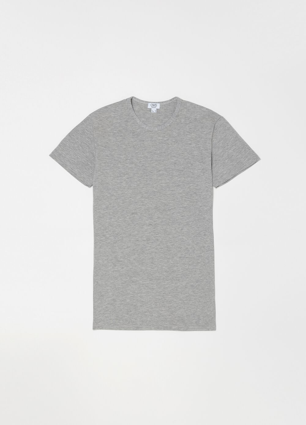 Stretch undershirt with round neck