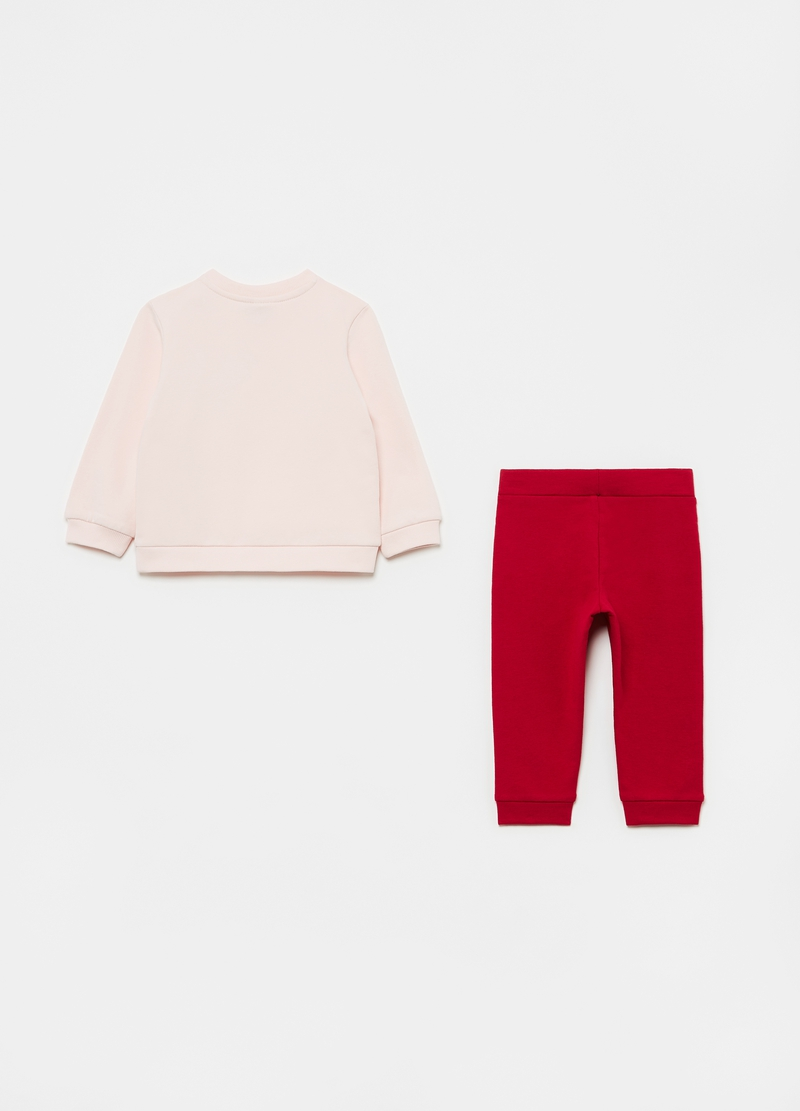 Sweatshirt and trousers jogging set with hedgehogs print image number null