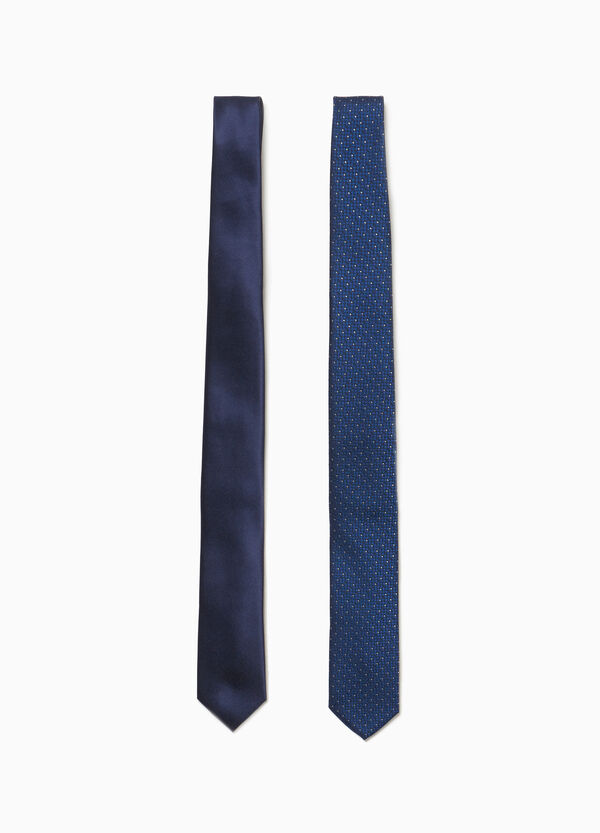Two-pack micro-check ties