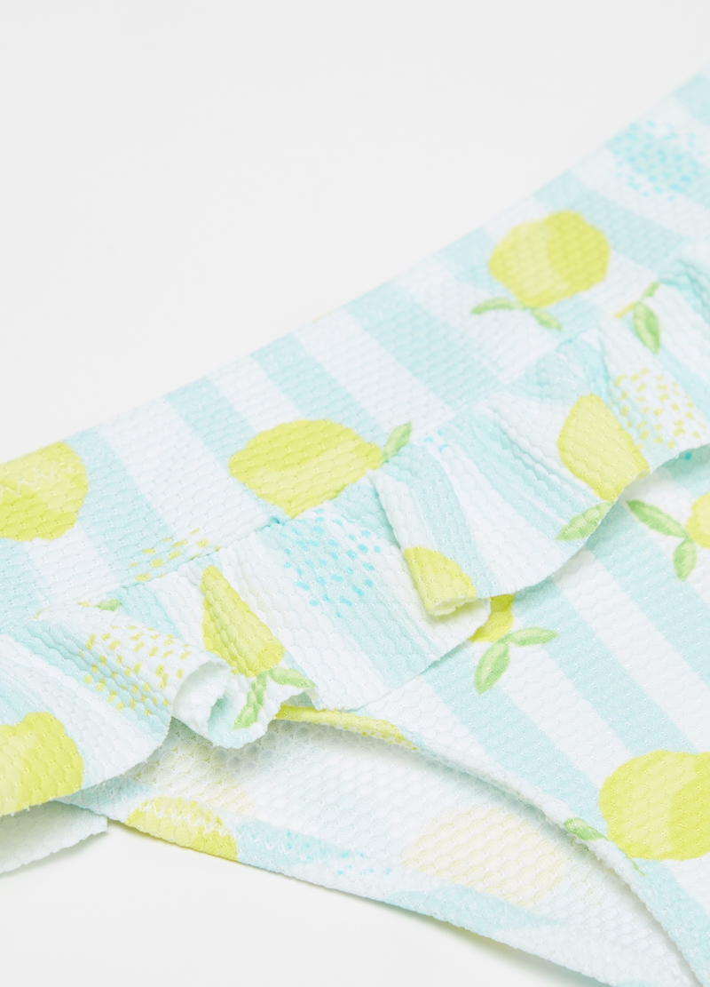 Swim briefs with stripes and lemons image number null