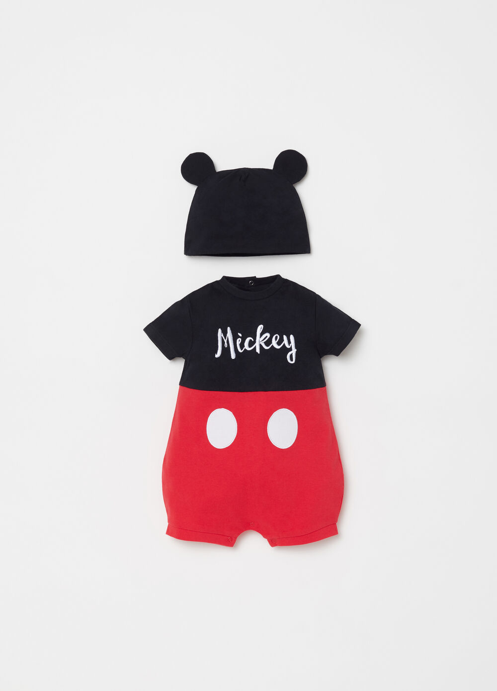 BCI Mickey Mouse onesie and cap set
