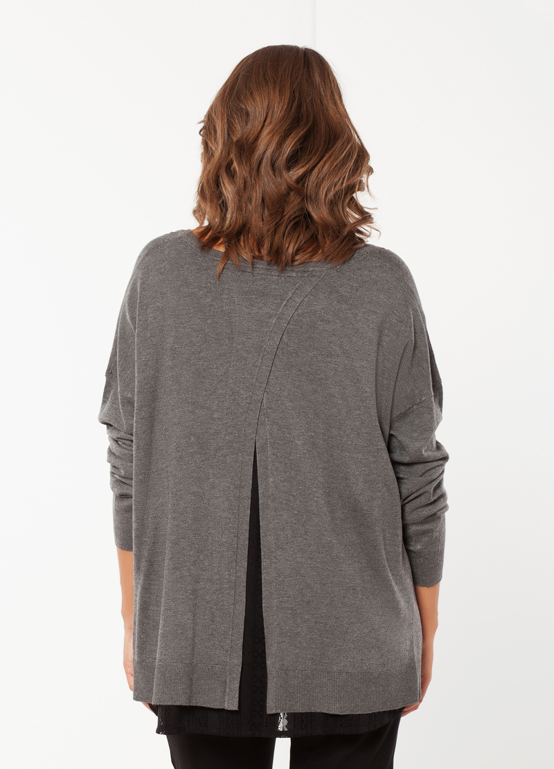 Curvy long-sleeved T-shirt image number null