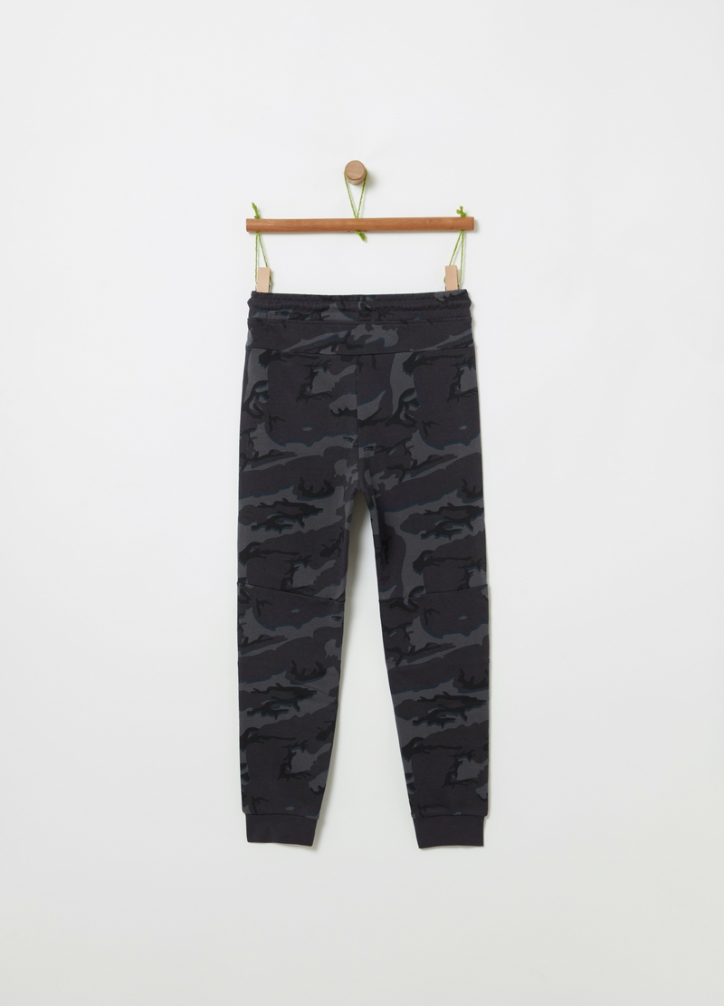 French terry camouflage joggers image number null
