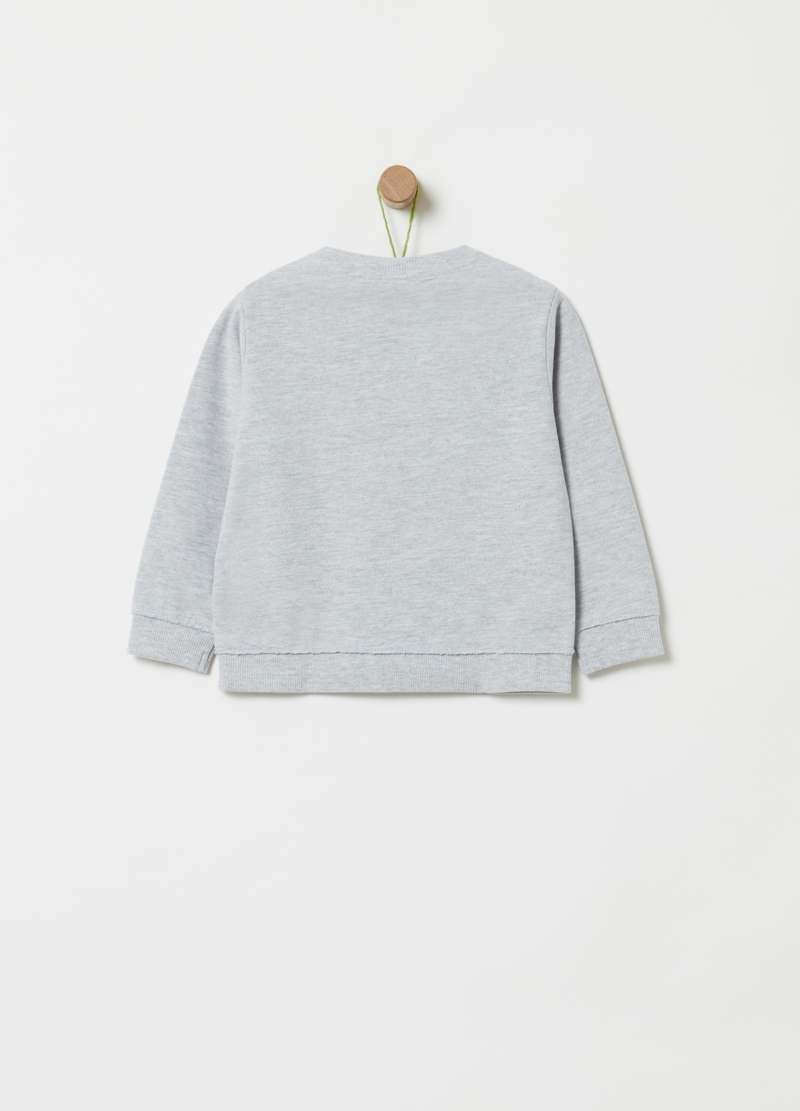 Sweatshirt in mélange organic cotton and viscose image number null