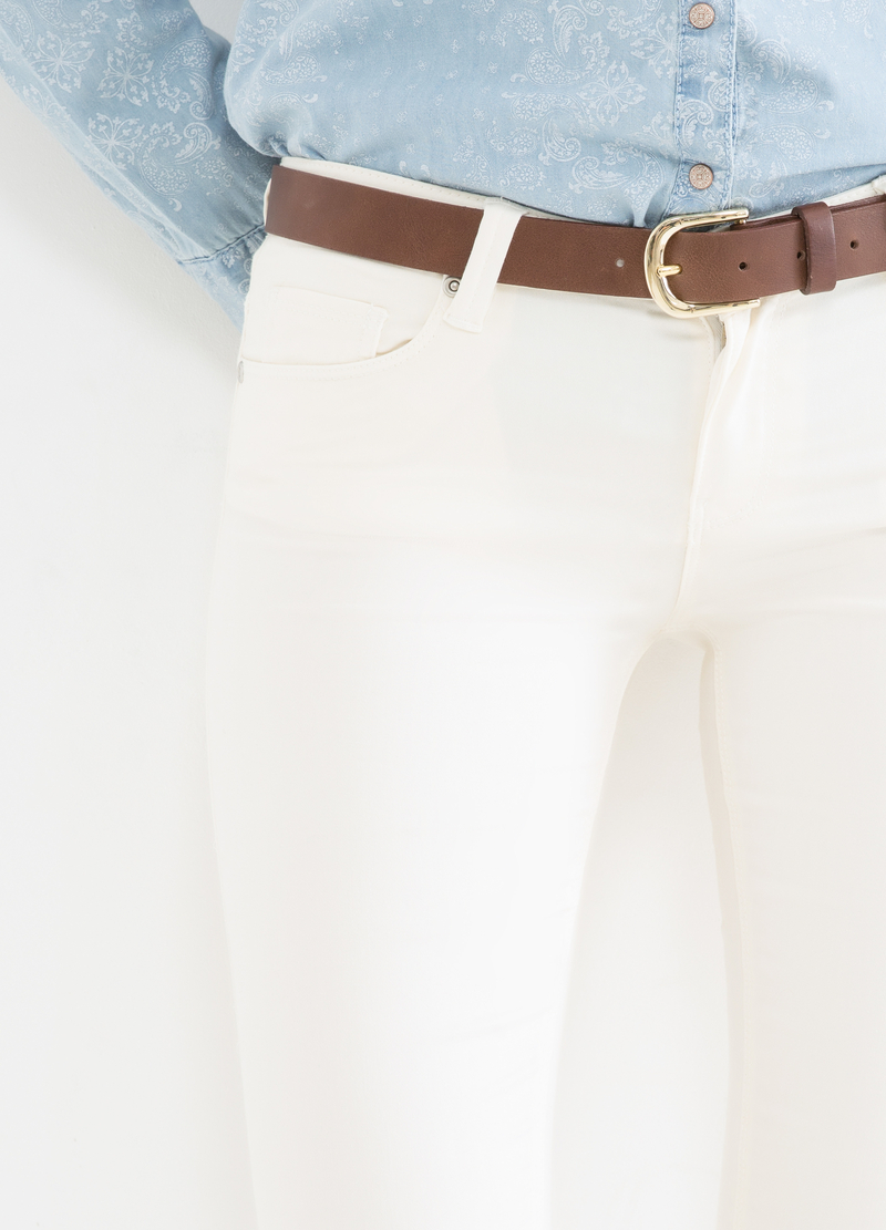 Pantaloni in misto cotone stretch image number null