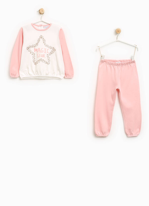 Pyjamas in 100% cotton with glitter print | OVS