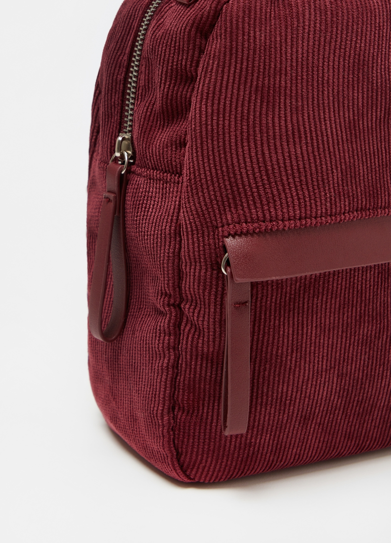 Small corduroy backpack image number null
