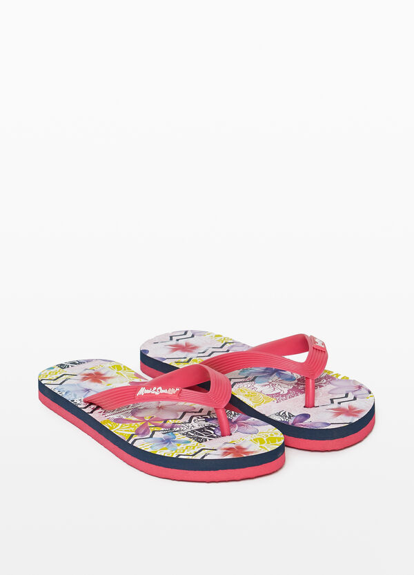 Ethnic patterned flip flops by Maui and Sons