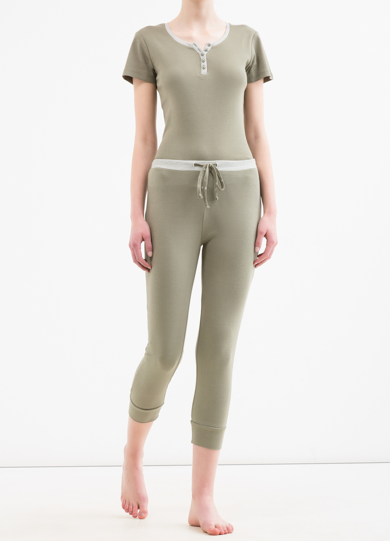 Pyjama trousers in 100% cotton image number null