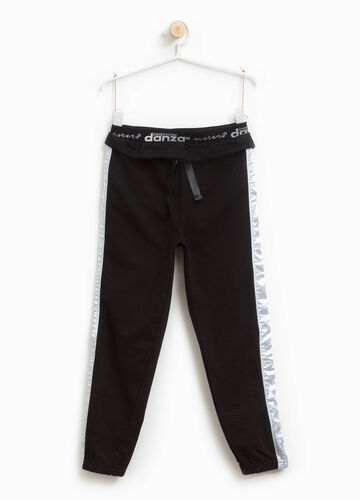 Joggers with lettering