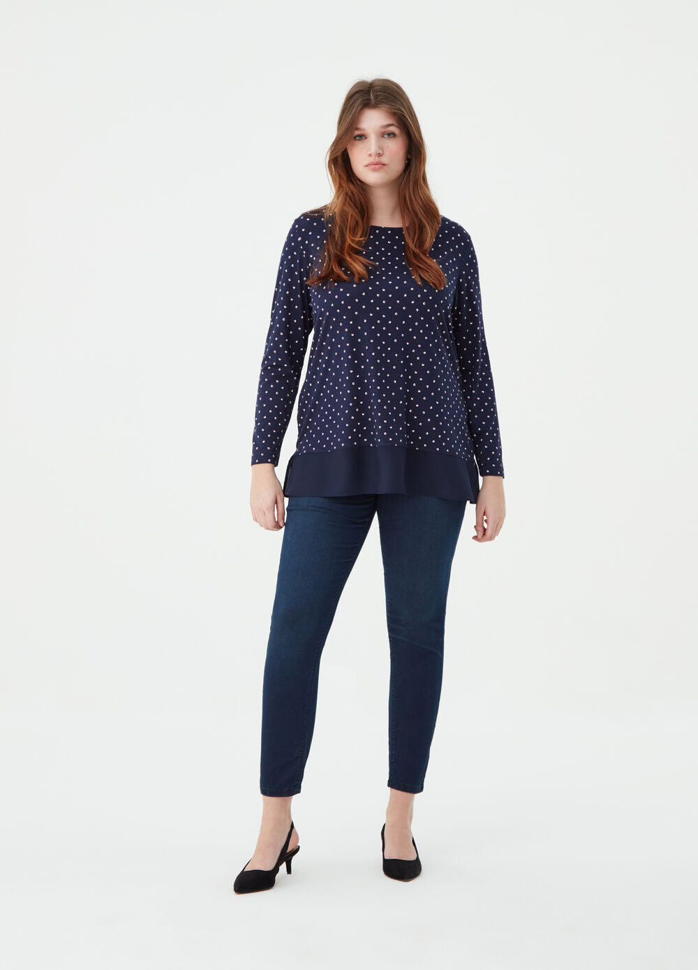 Curvy washed-effect stretch jeggings