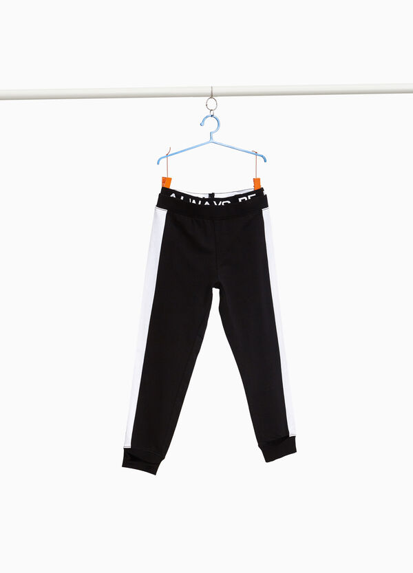 Joggers with printed lettering